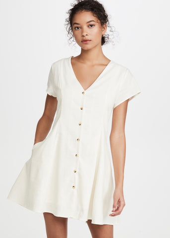 Milla Linen Dress Vintage White (Pre-Order)