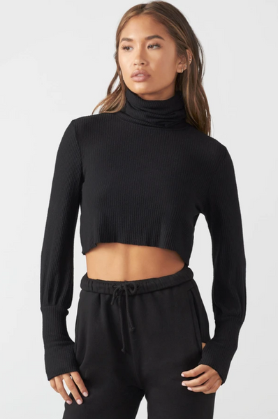 Brooklyn Turtleneck - Black Rib