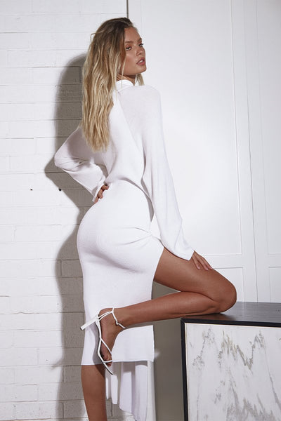 Tied Up Dress - White