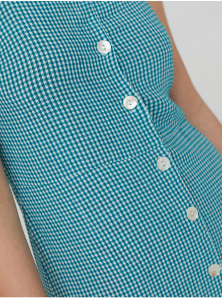 Flowing Gingham Dress