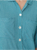 Flowing Gingham Shirt