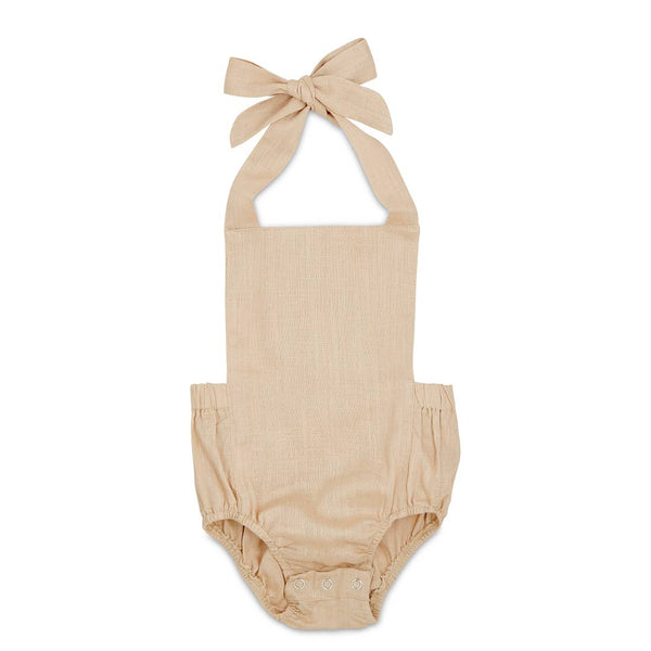 Summer Baby Romper Oatmeal