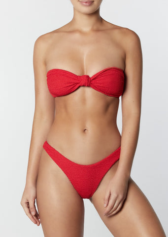 The Knot Bandeau- Crinkle Red