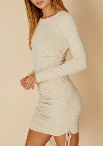 On Your Mind Ribbed Dress
