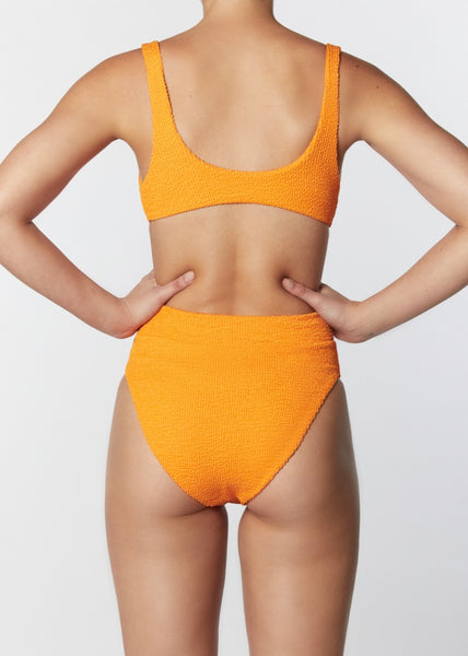 The High Rise Pant - Crinkle Tangerine
