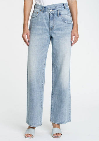 Bobbie High Rise Wide Leg Crossover Jeans