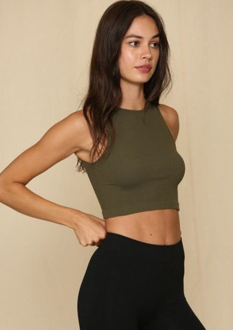 Candice Ribbed Crop Top