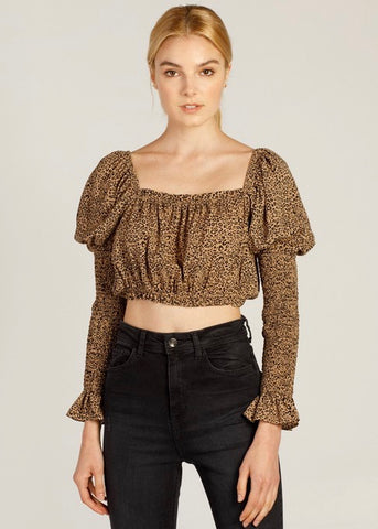 Cheetah Sister Top