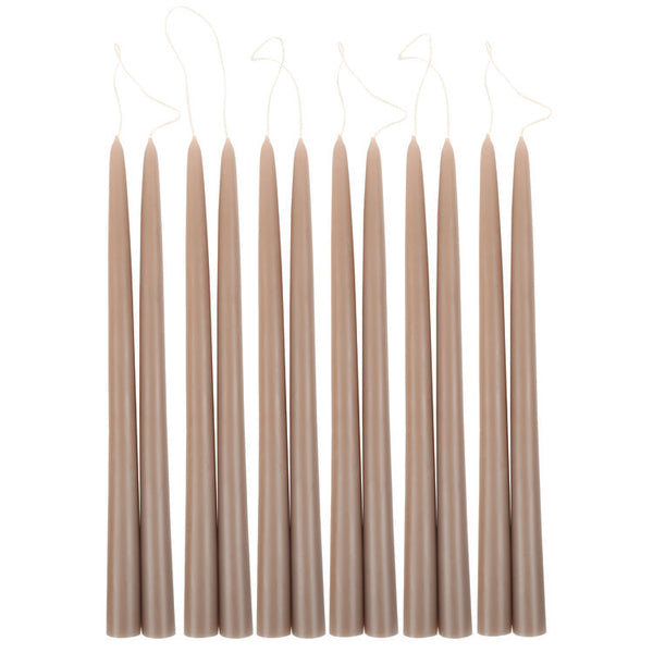 Greige Taper Candles
