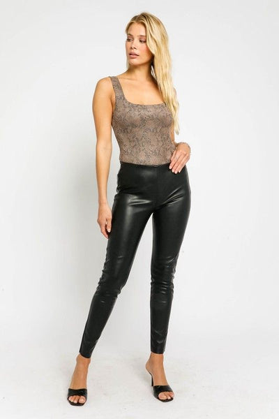 Snake Leather Bodysuit