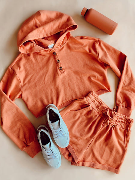 Apricot Sweat Short Set