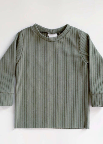 Eucalyptus Ribbed Long Sleeve