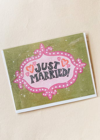 Vegas Just Married Card