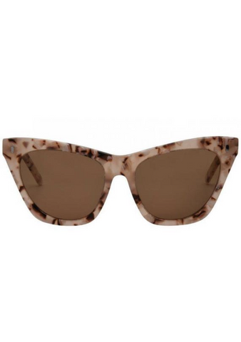 Lexi Sunglasses - Peach/Brown