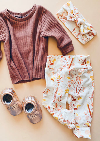 Fall Floral Baby Joggers