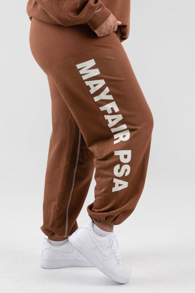 Mayfair PSA Brown Sweatpants