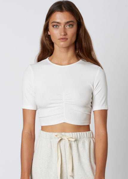 Ruched Crop Tee
