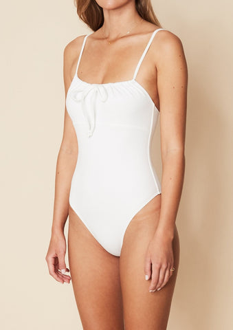 Manon One Piece - Plain White Textured