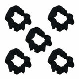 Black Satin Sleep Scrunchies