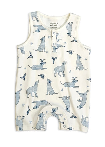 Kai Labrador Dog & Hummingbird Playsuit Romper Bodysuit