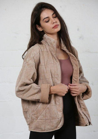 Mauve Quilted Jacket