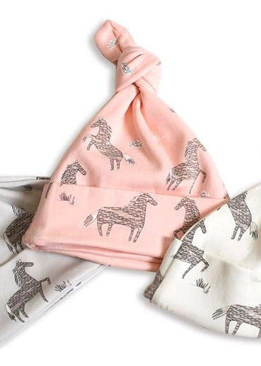 Pink Horse Baby Hat