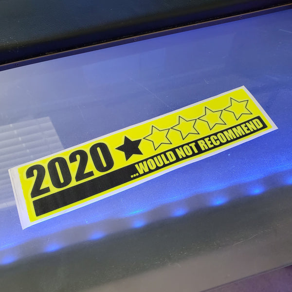2020 Would not recommend decal