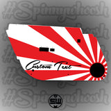 Rising Sun Door Card Vinyl Design