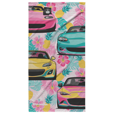 Miata Beach Towel 2020 -  Pineapple Floral