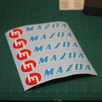 Vintage Mazda 3-Color Decal