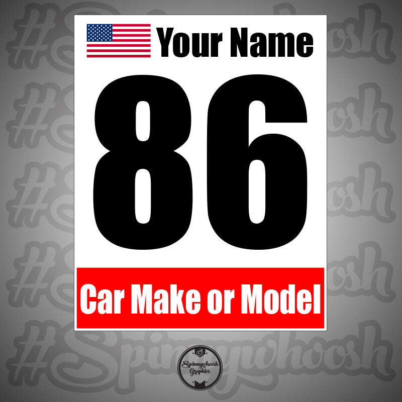 Custom Logo - Racing Number Cards – Spinnywhoosh Graphics