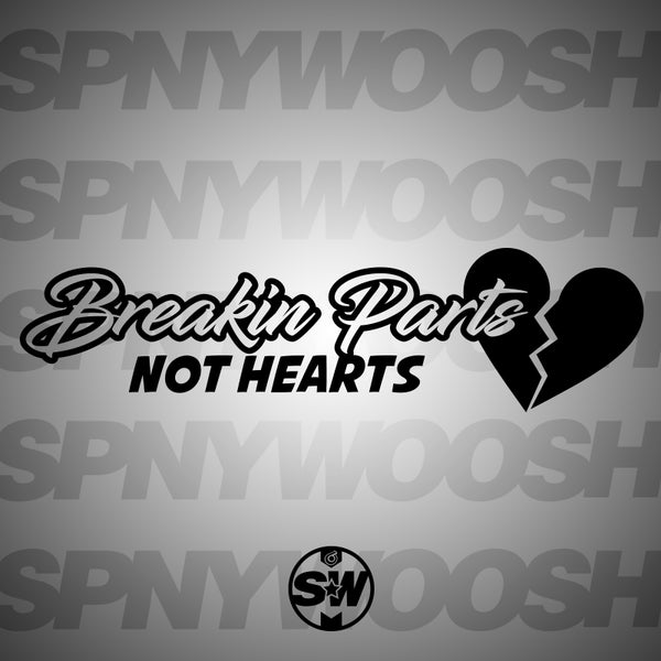 Break Parts Not Hearts Car Decal