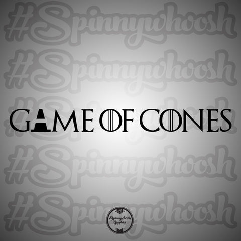 Game of Cones Decal
