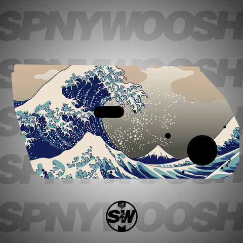 Great Wave off Kanagawa Door Card Vinyl Design