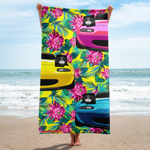 Miata Beach Towel - Yellow Floral
