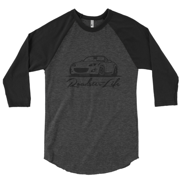 Roadster Life NC Miata 3/4 Sleeve tee *Black Edition*