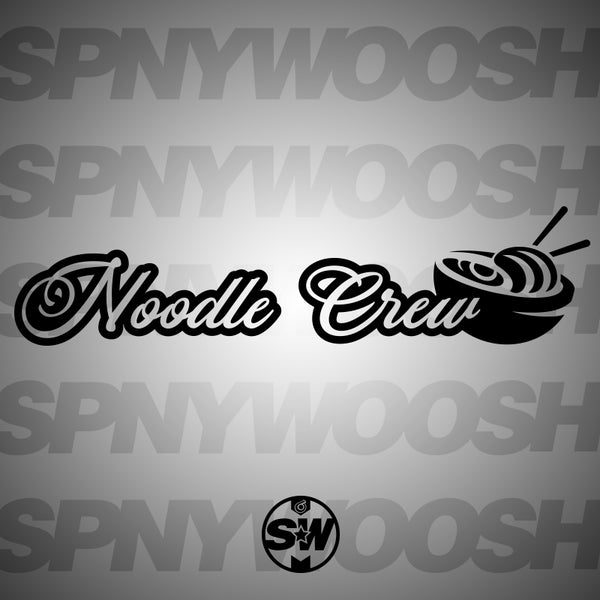 Noodle Crew Car Decal