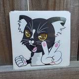 Oreo Cat Vinyl Decal