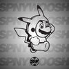 Pikachu Mario Decal