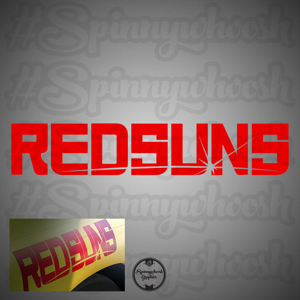 RedSuns Vinyl Decal NEW
