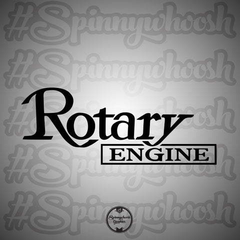 Rotary Engine Decal