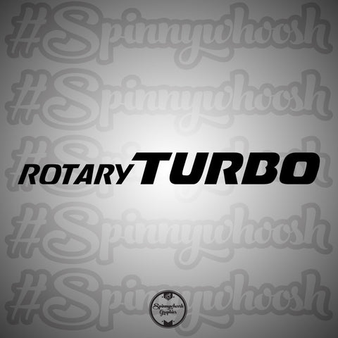 Turbo Rotary Decal (long)