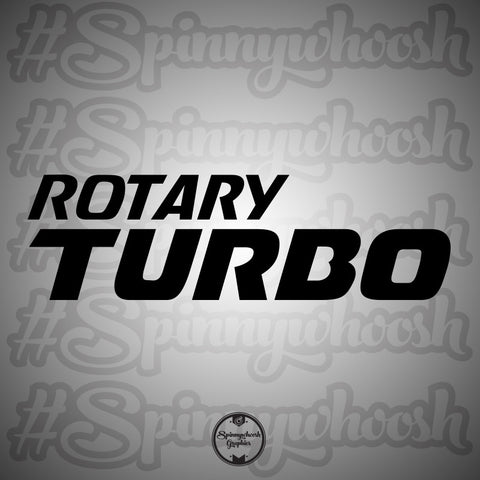 Turbo Rotary Decal (stacked)