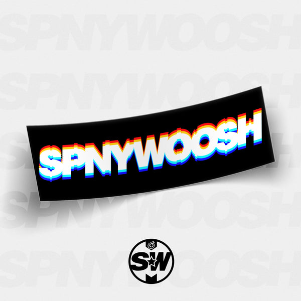 SPNYWOOSH Glitch Slap Sticker