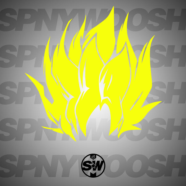 Super Saiyen Goku Hair Decal
