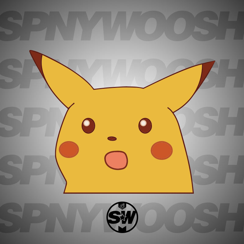 Surprised Pikachu Decal | Spinnywhoosh Graphics