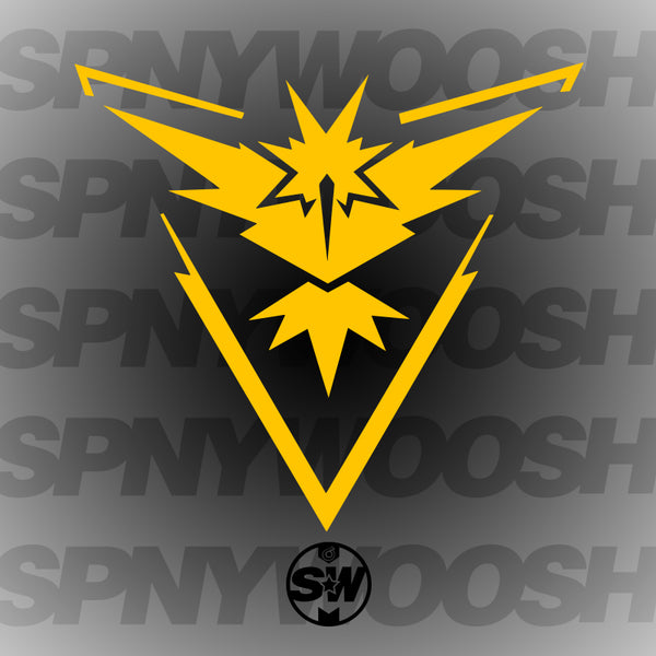 Team Instinct Pokemon Go Decal