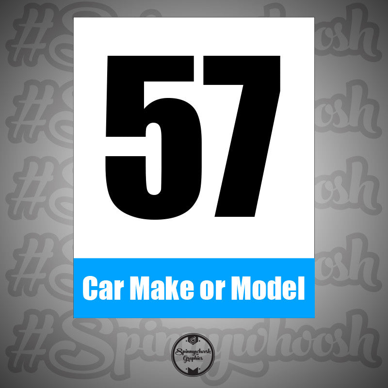 Custom Logo Racing Number Cards Spinnywhoosh Graphics