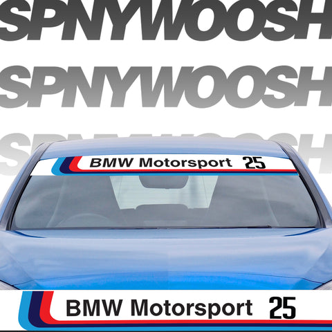Printed BMW Motorsport Banner with Number