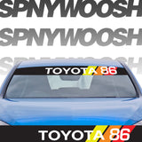 Printed Retro Toyota Banner with Number